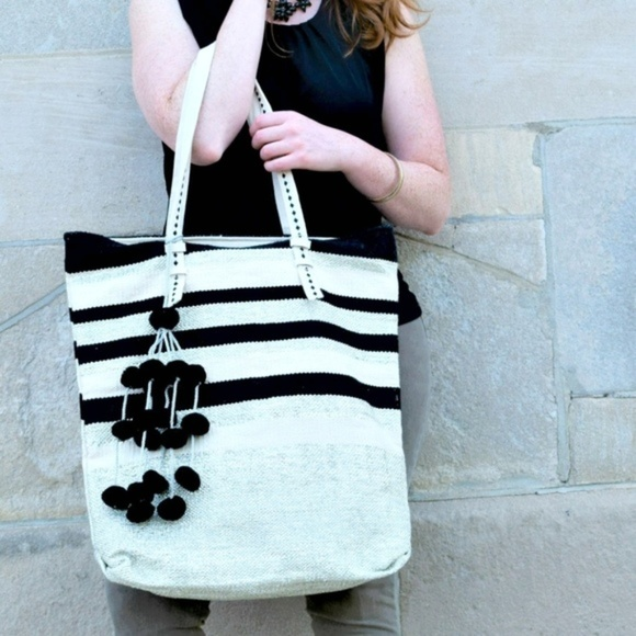 America & Beyond Handbags - Midnight Mist Oversize Fairtrade Tote Bag
